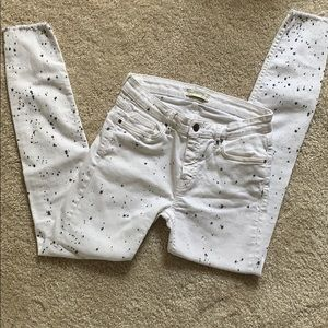 Women's Zara jeans with splash print
